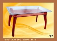 Холна маса със стъкло мат