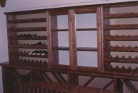 Дървени стелажи за вино -