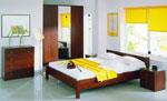 Спалня по поръчка от тъмен масив 175-2618