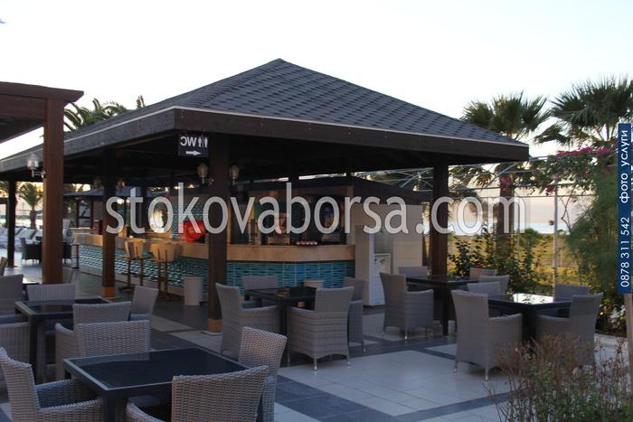 изграждане по поръчка на летен бар