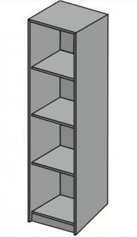 Офис стелаж с четири рафта 42х40х162см
