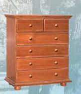 Скрин за спалня с шест чекмеджета