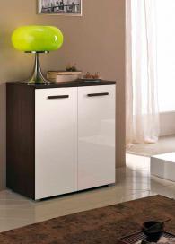 Скрин с два шкафа в бяло и венге