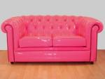Диван Chesterfield в розов цвят