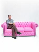 Диван Chesterfield в розово