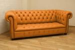 производител оранжеви луксозни Дивани Chesterfield