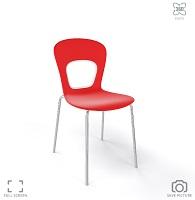 дизайнерски червен стол