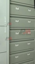 Метални картотеки с 7 чекмеджета, за оръжеен магазин