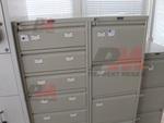 Метални картотеки с 7 чекмеджета, с възможност за закрепване към стена