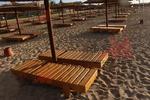 дървени шезлонги за плаж, евтини